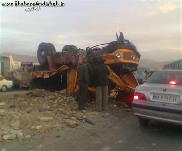 تصادف شدید کامیون